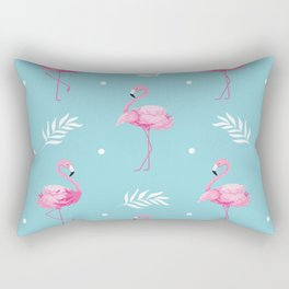 Sweet Flamingo Pattern. Rectangular Pillow