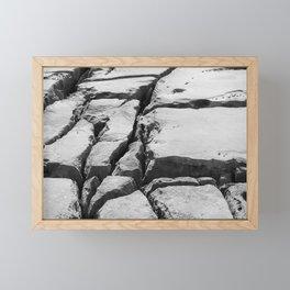 Limestone pavement in the Burren, Ireland Framed Mini Art Print