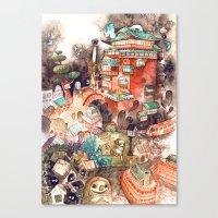 spirited away Canvas Prints featuring Spirited Away by Foya