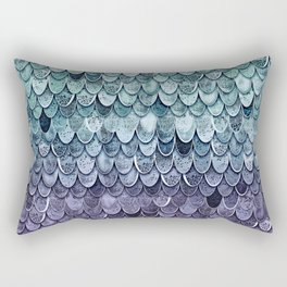 MAGIC MERMAID - MYSTIC TEAL-PURPLE Rectangular Pillow