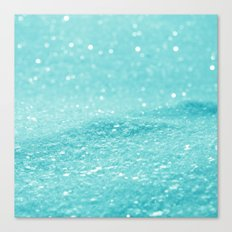 Glitter Turquoise Canvas Print