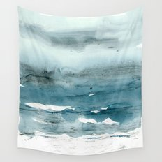 dissolving blues Wall Tapestry