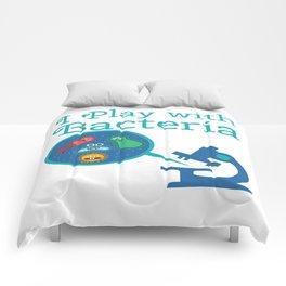 Funny Biology Meme Teacher Student Microskop Gift Comforters