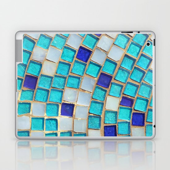 Blue Tiles - an abstract photograph. Laptop & iPad Skin