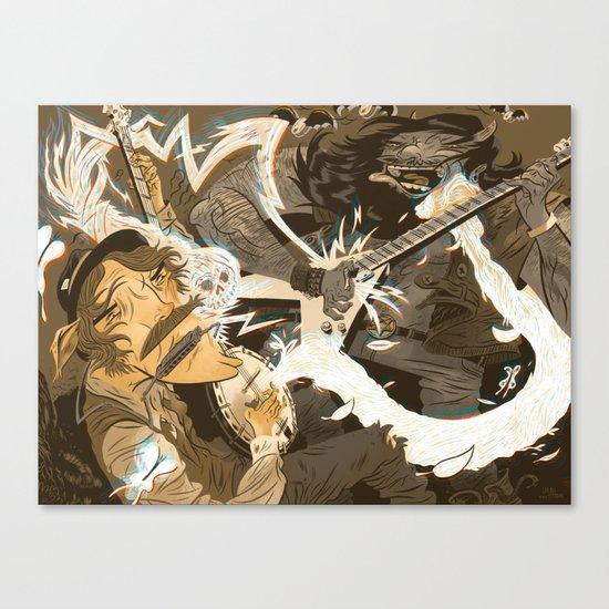 Folk vs. Metal Canvas Print