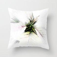 Poinsettia White on White Throw Pillow