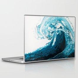Ocean Wave Acrylic Pour Laptop & iPad Skin