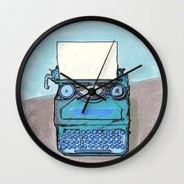 Writer's Muse -Typewriter Wall Clock