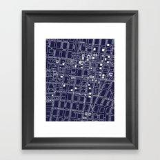 Vintage LA Map Framed Art Print