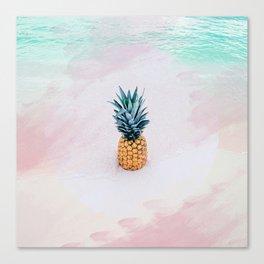Pineapple on the beach Canvas Print