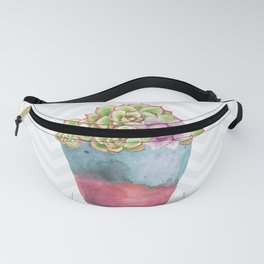 HEN AND CHICKS IN A POT Fanny Pack