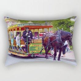 Horse-Drawn Trolley I Rectangular Pillow