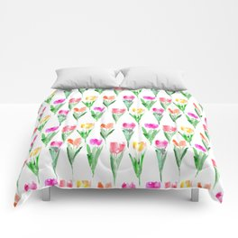 Watercolor tulips from Holland Comforters