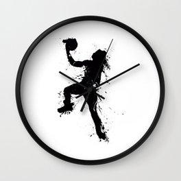 Basketball player inked Wall Clock