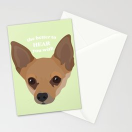The Better to Hear You With - Chihuahua Ears Stationery Cards