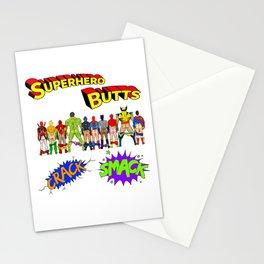 Superhero Butts Crack Smack Stationery Cards