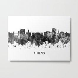 Athens Georgia Skyline BW Metal Print