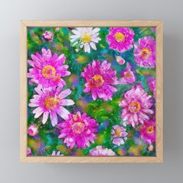 Pink Daisies Flower Party 2 by Jennifer Berdy Framed Mini Art Print