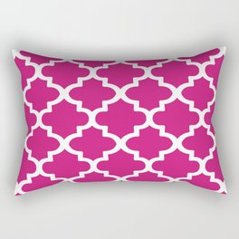 Arabesque Architecture Pattern In Dull Pink Rectangular Pillow
