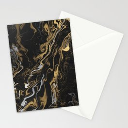 marble black and gold luxury Stationery Cards