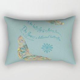 """Butterflies like Flowers - """"Painted"""" Rectangular Pillow"""
