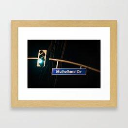 Mulholland Drive Framed Art Print