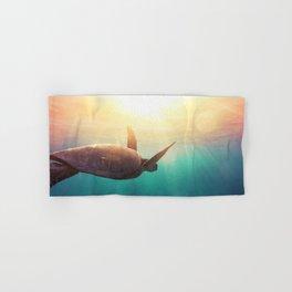 Sea Turtle - Underwater Nature Photography Hand & Bath Towel