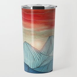 Lines in the mountains IV Travel Mug