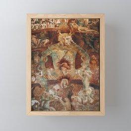 The last judgment hell by francesco Traini campo santos Pisa Italy Framed Mini Art Print
