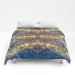 Mountain Trail Edit Invert Mirrored Comforters