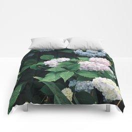 Hydrangeas in the Yard Comforters