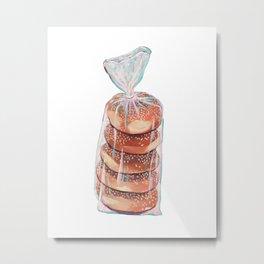 Bag o Bagels Metal Print