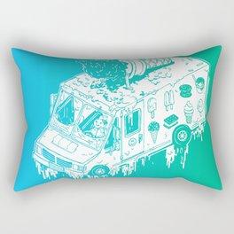 Melty Ice Cream Truck - Mint Rectangular Pillow