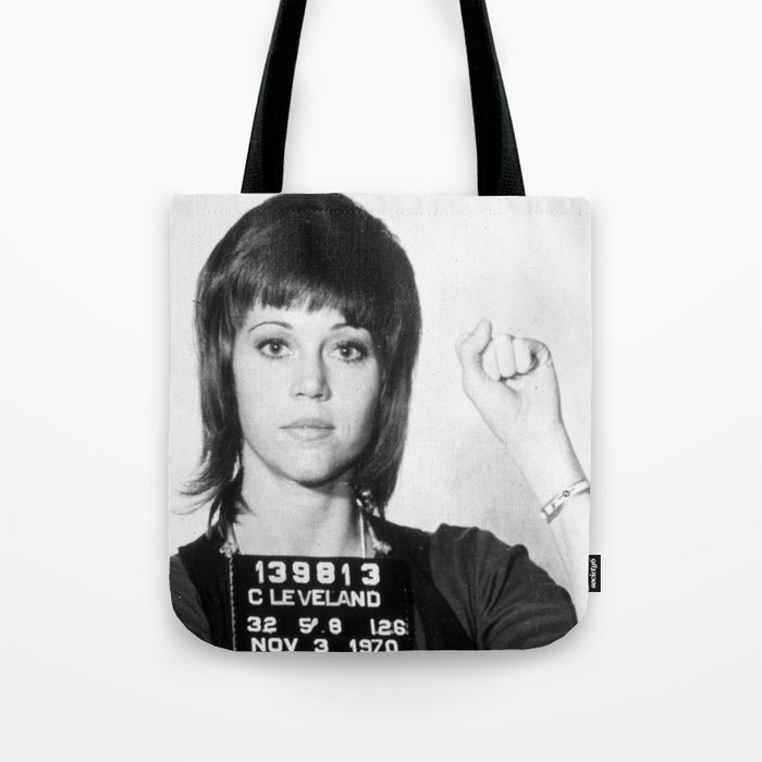 Jane Fonda Mug Shot Vertical Tote Bag