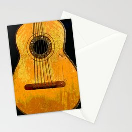 Old Mariachi Guitarron Stationery Cards