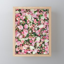 Pink Summer Flowers Framed Mini Art Print