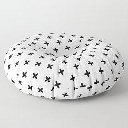 Black Swiss Cross Floor Pillow