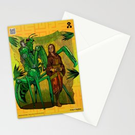 A Mantis and a Prayer - The Stalking Robot Mantid and The Shepherd Stationery Cards