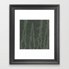 Shibori Ferns Framed Art Print