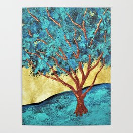 Twilight Woods #292 by Michael Kraus - blue white trees forest na Poster