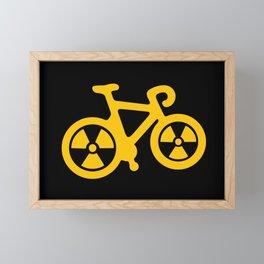 Radioactive Bicycle Framed Mini Art Print