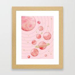 The Pink Solar System Framed Art Print