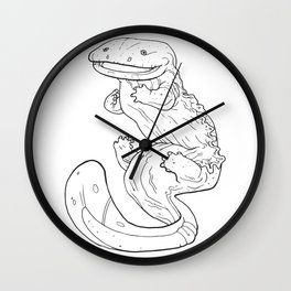 Eastern Hellbender Outline Wall Clock