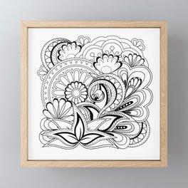 black&white zen composition with mandalas Framed Mini Art Print