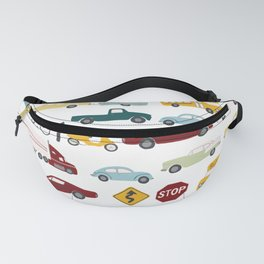 Beep Beep! Cars and Trucks Traffic Pattern Fanny Pack