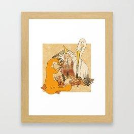 The fox and the stork Framed Art Print