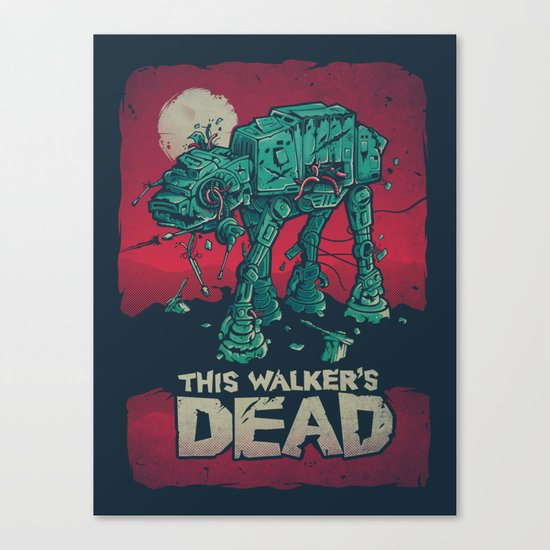 Walker's Dead V2 Canvas Print
