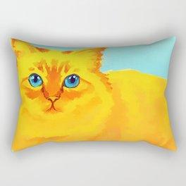 Yellow Cat 2 Rectangular Pillow