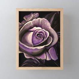 Purple Rose Framed Mini Art Print