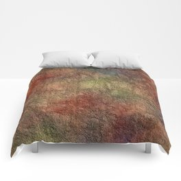 Colorful Earth Tones Brown Blue Abstract Comforters